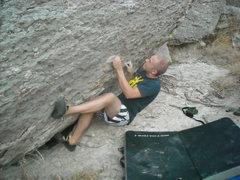 Rock Climbing Photo: Zach on the start of Yard Sit.