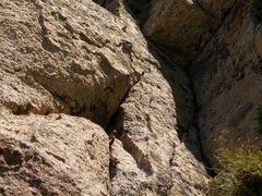 Rock Climbing Photo: Soft iron pin to the right of the start of Vino Sa...