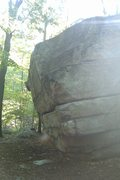 Rock Climbing Photo: Northwest Arete of the Outbreak Boulder.  There ar...