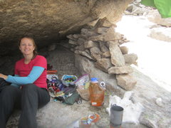 Rock Climbing Photo: bivouac at Spearhead, RMNP, July 2011