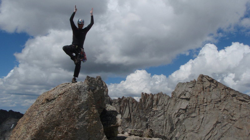 Rock Climbing Photo: A little Yoga on top of Pingora