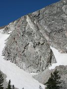 Rock Climbing Photo: The red line is the path we took, there are plenty...