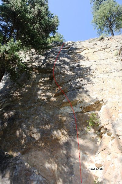 Rock Climbing Photo: Howl 5.10b, Topo