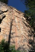 Rock Climbing Photo: The Englishmen Are... 5.11a, Topo