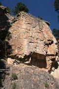 Rock Climbing Photo: Estrogen Arete 5.9, Topo