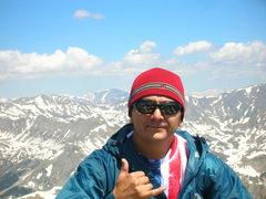 Rock Climbing Photo: Top of Mt. Yale