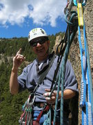 Rock Climbing Photo: At the anchor.