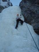 Rock Climbing Photo: Ice climbing near Denali, Dragon Fly Falls, Ak