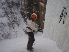 Rock Climbing Photo: Preparing for a climb at Fox Creak, Near Denali, A...