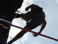 Rock Climbing Photo: Andy on Waimea