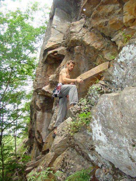Rock Climbing Photo: great warm up route