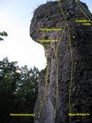 Rock Climbing Photo: Easy to ready topo