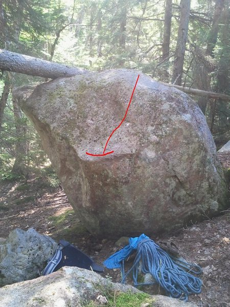 Rock Climbing Photo: Little Sit V2