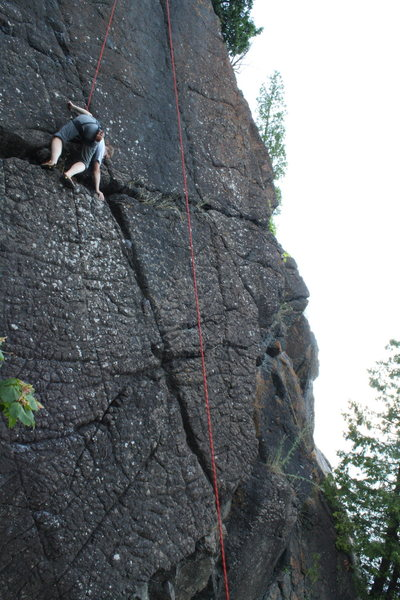 Rock Climbing Photo: Climbing the Pinnacle at Presque Isle.