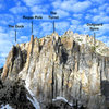 The Little Slide Spires -<br> <br> The Duck<br> Regge Pole<br> The Turret<br> Outguard Spire