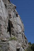 Rock Climbing Photo: Chris Perkins on sight.  Photo by James Krasta.