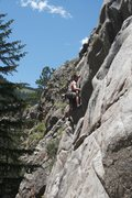 Rock Climbing Photo: Chris Perkins shamelessly TRing Silver Glide (5.11...