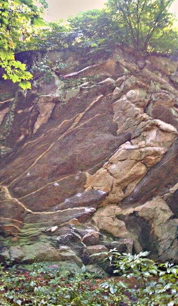 Mianus River park boulder