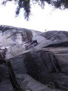 Rock Climbing Photo: Lamplighter pitch, showing the lieback section