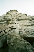 Rock Climbing Photo: Fairly Soft Rock but pretty solid.  Place a piece ...