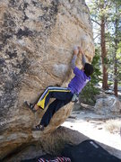 Rock Climbing Photo: Trailside Tango (V3), Tramway