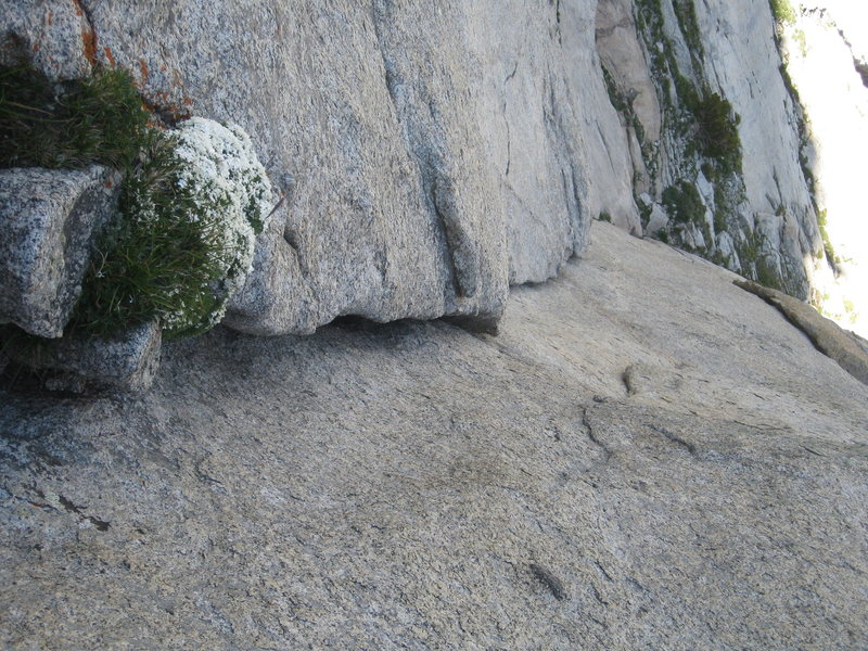 Rock Climbing Photo: Looking down from the belay after finishing the ro...