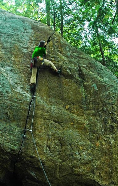 Rock Climbing Photo: 'The Horn', Upper Cliff