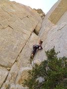 Rock Climbing Photo: The crack awaits me.