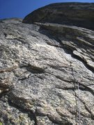 Rock Climbing Photo: The flakes at the start of P3