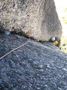Rock Climbing Photo: The 5.9 corner pitch