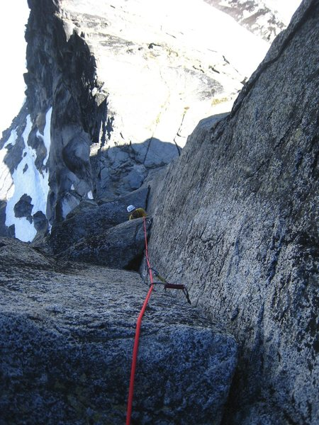 Looking down the 1st 5.9 gendarme pitch