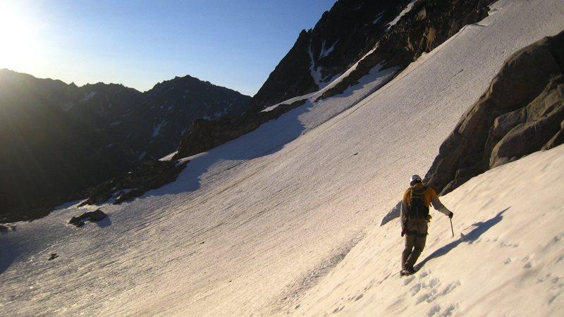Crossing the Stuart Glacier