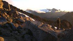 Rock Climbing Photo: Sunrise from Goat Pass