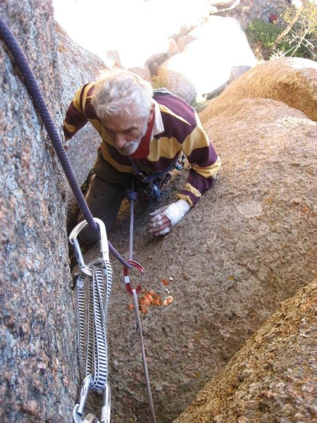 Rock Climbing Photo: Rob at the Vomitorium, pitch #2.