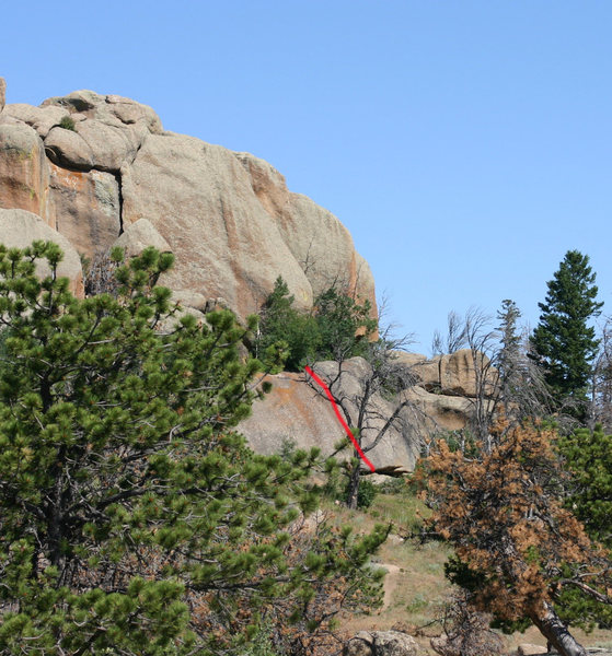 "Northeast side of the ""Limbo"" crags on 700N. This area is annotated on Google Maps as ""Devil's Road."""