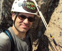 Rock Climbing Photo: me on the belay atop Book Of Solemnity P1