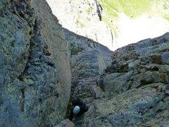 Rock Climbing Photo: Kelsea following pitch 5