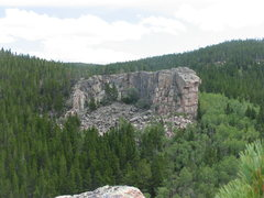 Rock Climbing Photo: Bare Scat Rock as seen from saddle of the ridge so...