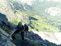 Rock Climbing Photo: End of pitch 8 and the beginning of the simul-clim...