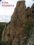 Rock Climbing Photo: The routes on Pika Pinnacle