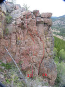Rock Climbing Photo: The routes on Cub Rock near Pika Pinnacle