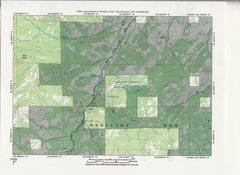 Rock Climbing Photo: Topographic Map of the Region around the Little Be...
