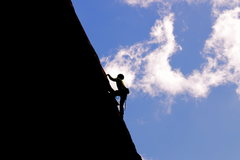Rock Climbing Photo: Silhouetted on a warm March day.