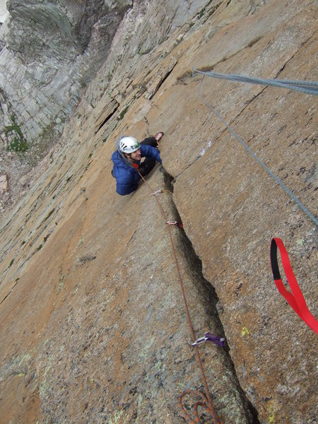 one of the 5.10 pitches on pervertical
