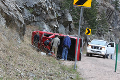 Rock Climbing Photo: Drive slowly through the canyon, and watch out for...
