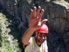 Rock Climbing Photo: High Five! Thank you, Mr. Mabe and Mr. Bernal. Thi...