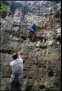Rock Climbing Photo: I and my son bouldering in Hin Chang Si boulders a...