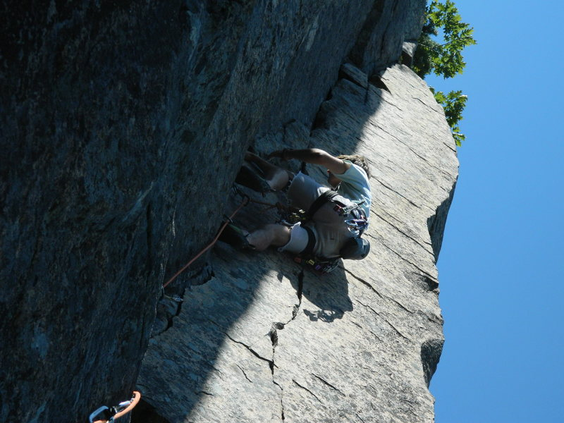 Rock Climbing Photo: Maine (Return to Forever) 5.9+