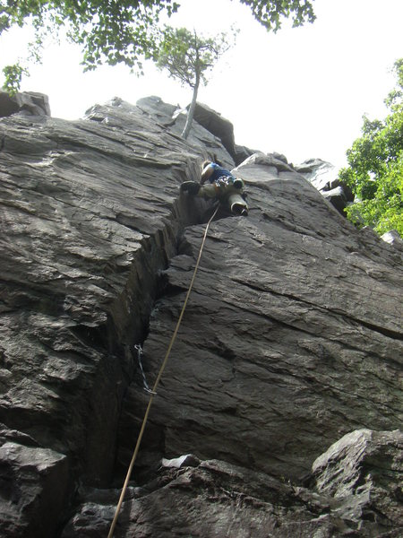 Rock Climbing Photo: Vince loving the Hammer Crack.