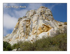 Rock Climbing Photo: Updated Topo for Park Ridge Rock. For more info. &...